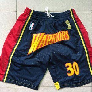 New NBA Warriors Stephen Curry Basketball Shorts
